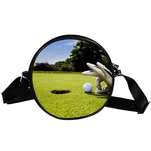Bennigiry Damen Golftasche, rund, Schultertasche, Tragegriff, für Mädchen