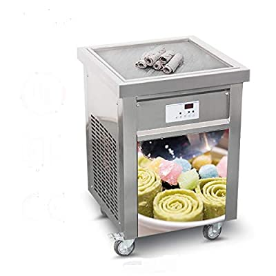 Kolice 110V 60HZ Snack Food Fast Food Machine USA Franchise 52x52cm Commercial Square ice pan Thai Fried ice Cream Rolled Machine roll ice Cream Machine Fry ice Cream Machine with ETL UL NSF Quality