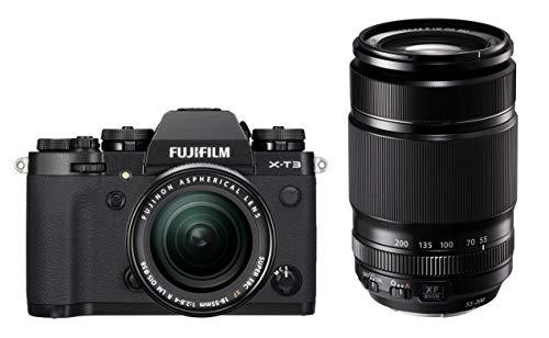 Fujifilm - Cámara Evil Fujifilm X-T3 Negro + Xf 18-55 Mm + Xf 55-200 Mm