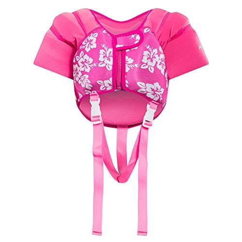Yeah-hhi Chaleco Salvavidas para Niños, Buoyancy Boating Snorkeling Drife Save Surviver Vestir Chaleco Flotante Chaleco para 2-6 Edades Bebé,Rosado,M