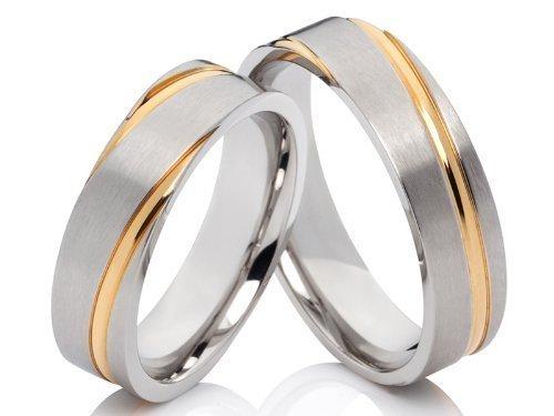 2 anillos Pareja anillos Póster con anillos de compromiso anillos de alianzas...