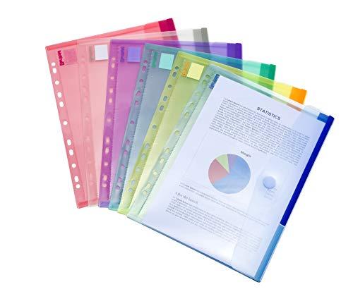 Tarifold - Fundas tipo sobre (12 unidades, tamaño A4, colores variados)