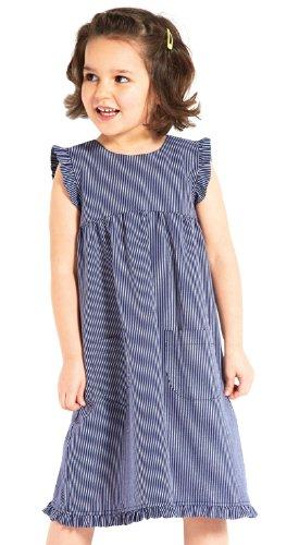 modAS Fischerkleid Gestreift Kinder, Kinder, 98, schmaler Streifen