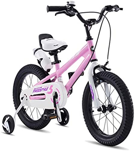 Kinderfürradzubeh Kinderfürrad fürrad 3-10 Jahre Alt Kind Jungen Und mädchen Pedal Kinderwagen fürrad Handy Leichtes fürrad (Farbe   Rosa, Größe   14 inch)