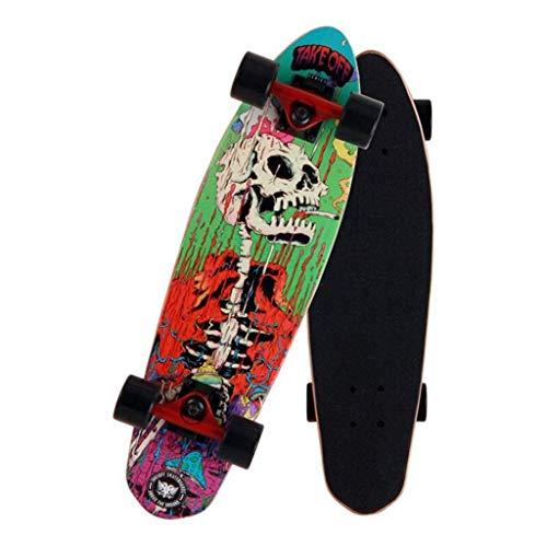 LQH Erwachsene, Jugendliche und Kinder Skateboards, 26-Zoll-Gift Skateboards, Deck Tanz Skateboards, 7-Schicht Maple Doppel Kick-Adult Stunt Anfänger Skateboards und PU-Wear Räder