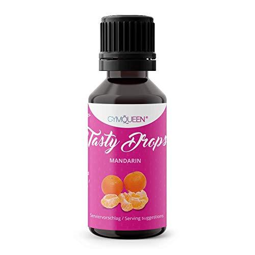 GymQueen Tasty Drops 30ml | Kalorienfreie, Zuckerfreie und Fettfreie Flavour Drops | Aroma Tropfen zum Süßen von Lebensmitteln | Geschmackstropfen ohne Künstliche Farbstoffe I Mandarine