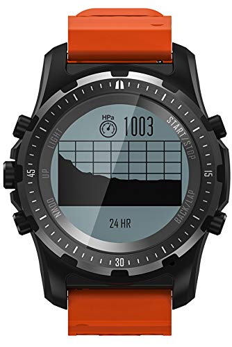 Smartwatch Herrenuhr GPS Kompass Herzfrequenzmesser Fitness Tracker Sportuhr Outdoor Militär Uhren Laufen Schrittzähler Herren Männer Jungen