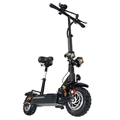 URCAR Scooter Elettrico Pieghevole Doppio Motore da 3200W con Sedile Pieghevole Bici 60 V / 24 A con Pneumatici da 11 Pollici velocità Massima Fino a 85 km/h Monopattino