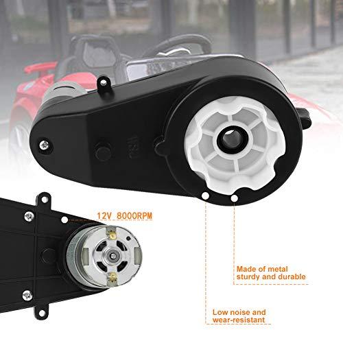 Elektromotor Getriebe,Jectse 12V 8000Rpm robuster und langlebiger Metall Elektrisches Moto Getriebe Antriebs Motor für Kinderautos(12V8000R)