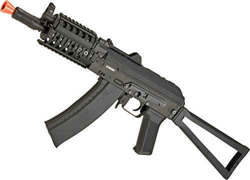 Evike CYMA AKS-74UN RAS Airsoft Folding Stock AEG Rifle - (Package: Add 7.4v LiPo Battery + Charger)