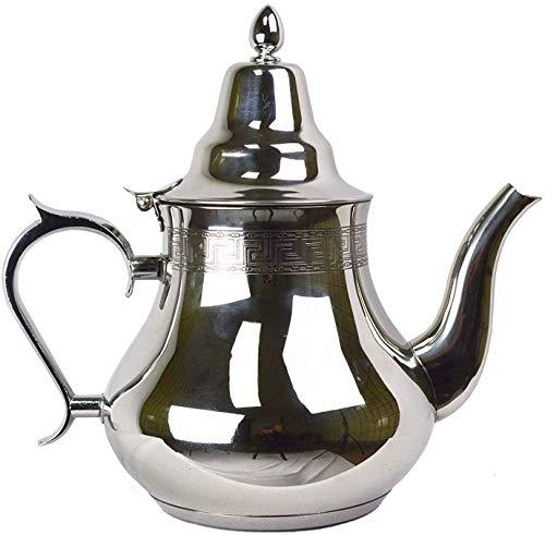 Ramadan24 1,5L Teekanne mit Orient Muster - Orientalisch Marokkanische Kanne Türkische Arabische Teekocher Marokko