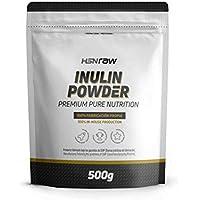 Inulina en Polvo de HSN Raw | Fibra Prebiótica | Limpieza Intestinal, Reducción de Hinchazón, Alivio del estreñimiento | Apto para Veganos, Sin Lactosa, Sin Gluten – Sin Sabor 500g