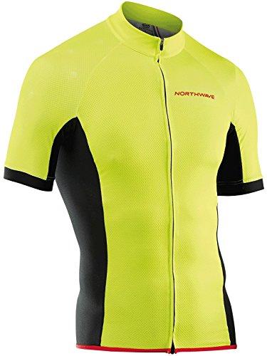 Northwave Force Fahrrad Trikot kurz gelb/schwarz 2020: Größe: L (50)