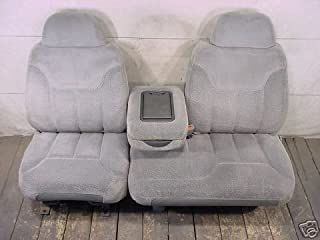 Durafit Seat Covers 1995-2000 Chevy Silverado, Tahoe and GMC Sierra Front 60/40 Split Seat with Opening Center Console. Made in Tan Endura