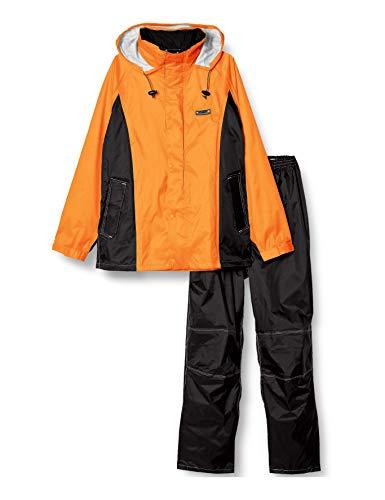 [ドキュメント] レインスーツ 上下セット 透湿 防水 総裏メッシュ 3Dブリーズレイン メンズ オレンジ L