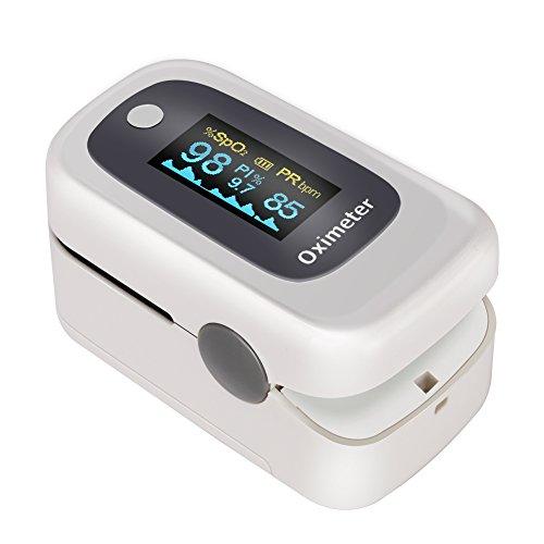GHB Pulsímetro Oxímetro de Pulso y Monitor de Ritmo Cardíaco...