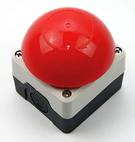 Not Aus Schalter/Taster, rastend, 240V, NC und NO Pilztaster rot IP65 1Ö 1S Buzzer P1C400E72