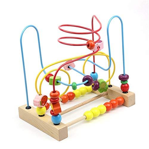 Laberinto Multifunción Centro Educativo Juguetes rusa de madera Coaster Actividad de bolas laberinto for niños y niñas Los niños pequeños regalo de la diversión educativos Actividad de Madera Cube Toy