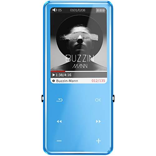 SOTEFE 32GB Reproductor MP3 Bluetooth 4.0 MP3 Player 2.5D Pantalla BotónTáctil Multi-función Altavoz Súper Sonido Video FM Radio  E-Book Registro Juegar Música Más 100H(Soporte Tarjeta hasta 128GB)