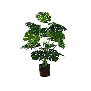 xuejuanshop Fake Plants Simulation Banana Tree Simulation Tree Indoor Garden Home Office Decoration Bonsai Potted Plastic Simulation Tree Fake Plant Artificial Bonsai (Size : A)