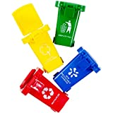 Trash Can Toy,Garbage Truck's Trash Cans, Mini Curbside Vehicle Garbage Bin Trashcan Great for Kids Toddlers