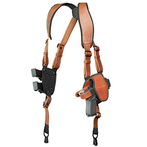 Alien Gear holsters ShapeShift Shoulder Holster (Brown Leather) Glock 30 (Right Handed) (.45 ACP/10mm Double Stack)