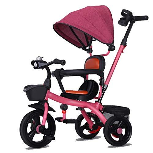 NUBAO Trike - Pedal de triciclo para niños de 3 ruedas con mango de empuje, asiento reversible (color: D) triciclos para niños de 1 a 3 años