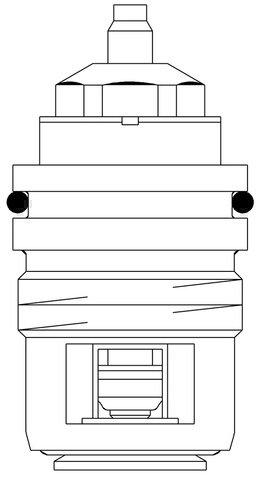 Oventrop Ventileinsatz Baureihe AV6/RFV6 für Ventile M 30 x 1,0-1998 DN 10-20