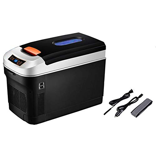 JCCOZ-URG 12L portátil Coche Refrigerador de Auto y Casa de Temperatura Ajustable Digital Display12v 24v 220V Caliente y fría refrigerador eléctrico portátil al Aire Libre Mini portátil URG