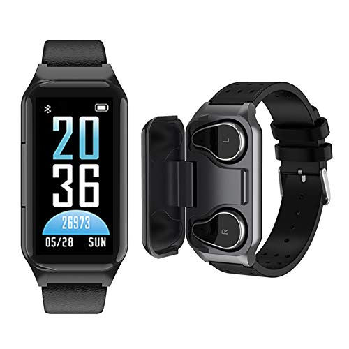 Smart Watch Earbuds 2 in 1, TWS Earbuds with Fitness Tracker Watch, Waterproof Bracelet with Step Calories, Sleep Tracker, Heart Rate Blood Pressure Monitor, Sport Headset for iPhone Android Phones