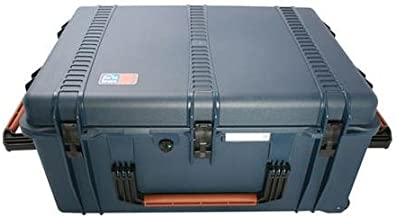 PortaBrace PB-2780ORX Hard Case with Off-Road Wheels, Foam Interior, Foot Locker, Blue Bags