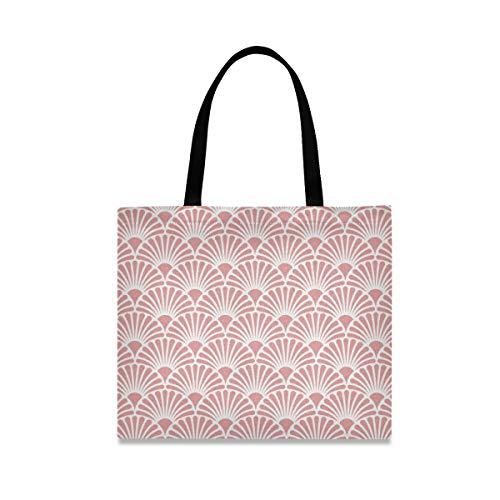 Chic Houses Estilo japonés ventilador de lona bolsa simple patrón reutilizable bolsa de comestibles ecológica bolsa de compras 2030054