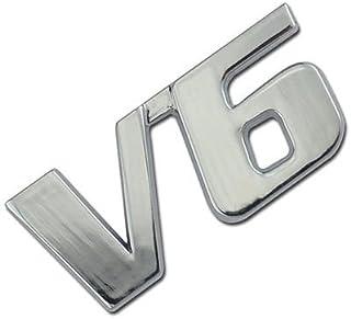 CHROME//BLUE METAL V8 ENGINE RACE MOTOR SWAP EMBLEM BADGE FOR TRUNK HOOD DOOR C