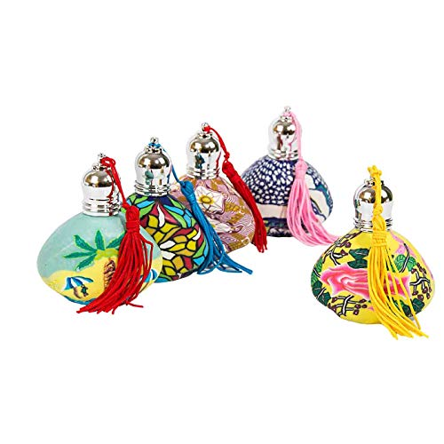 """Lote de 15 Perfumadores Fimo Cristal con Borla""""Modelos Surtidos"""". Fragancias. Perfumes y Aromas. Regalos Originales. Detalles de Bodas, Comuniones, Bautizos y Eventos. CC"""