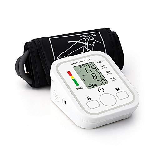 ZHOUJIE Automatisches digitales Oberarm-Blutdruckmessgerät Herzschlag-Pulsmesser Tonometer Blutdruckmessgeräte Pulsometer-Große Manschette 22 bis 48 cm