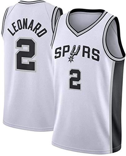 XSJY Herren-Basketball-Trikots - NBA San Antonio Spurs # 2 Kawhi Leonard Swingman Shirt Ärmellos Jersey,A,L:175~180cm/75~85kg