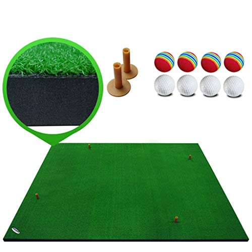 Why Choose ZTJQD Golf Mat, Indoor Golf Mat Swing Mat Thickening Version Family Hitting Mat, Swing Tr...