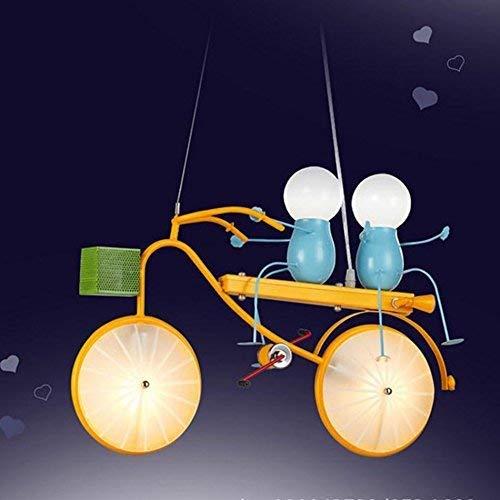 FuweiEncore Die Zimmer von Kindern und das Fahrrad von Eisen Künstlerischer Leuchter, Junge Zimmer Die Schlafzimmer, Modern und Kreativ Einfach von Beleuchtung (Farbe : -, Größe : -)