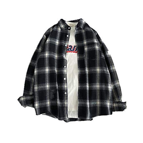 Camisa de algodón de manga larga roja negra a cuadros de los hombres de la camisa de algodón