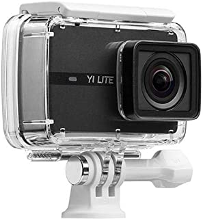 """YI Lite Action Camera, 4K 16MP Sports Cam with Sony Sensor, EIS, 150°Wide-Angle Lens, 2"""" Touchscreen for Underwater, Outdoor Activity (Waterproof Case Included)"""