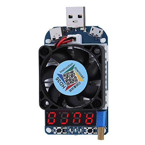 jadenzhou Probador de Carga electrónico USB de Disparador Inteligente, Resistencia de Carga electrónica, para reparación de teléfonos móviles