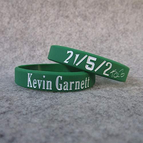 ZJZ Nr. 5 Celtics Basketball Celtics Kevin Granett Signatur Leuchtende Hand Ring Silikon Sport Armband (Farbe: Grün, Größe: 17 cm)