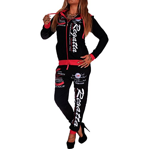 Damen Trainingsanzug | Regatta 672 | Schwarz-Pink | L
