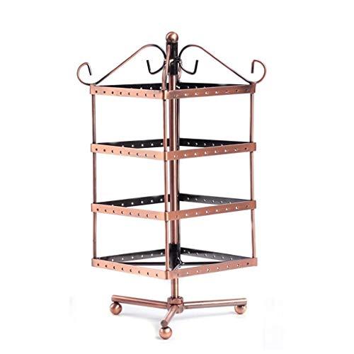 Carritos de la compra Estante de la joyería del árbol de la joyería joyería de stand pendiente creativo del estante de exhibición Rack de joyas soporte giratorio de la caja pendiente pendiente de la s