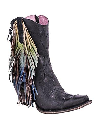 Junk Gypsy Women's by Lane Cream Spirit Animal Boot Snip Toe Black 5 M