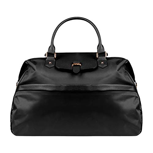 Lipault - Plume Avenue Duffel Bag - Top Handle Shoulder Overnight Travel Weekender Luggage for Women - Jet Black