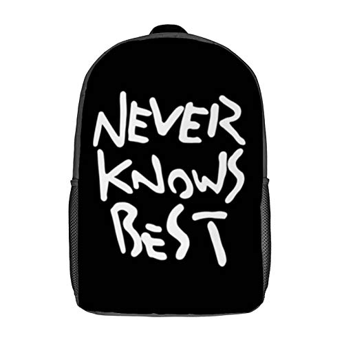 NEVER KNOWS BEST - SOLO 3D Anime School Bag with mesh pocket Unisex Fashion Black bag Travel Laptop Backpack 17 inch