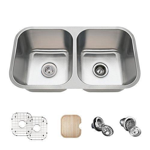 Polaris Sink PA8123-16-ENS The Polaris 16 Gauge Kitchen Ensemble44; Brushed Satin
