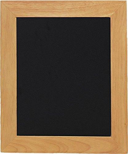 Securit Tableau noir mural Finition laquée avec bord en teck 30 x 40 cm