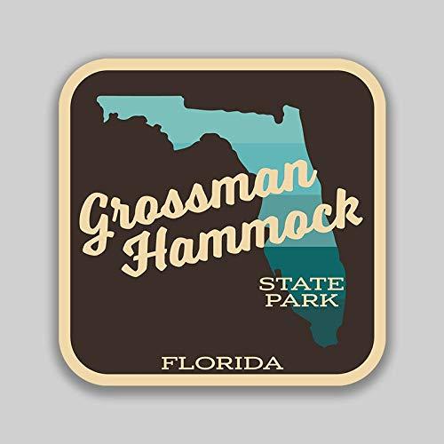 Lplpol Funny 4' Vinyl Decal Sticker Grossman Hammock State Park Florida Decal (2 Pack) for Laptop Water Bottle Phone Car